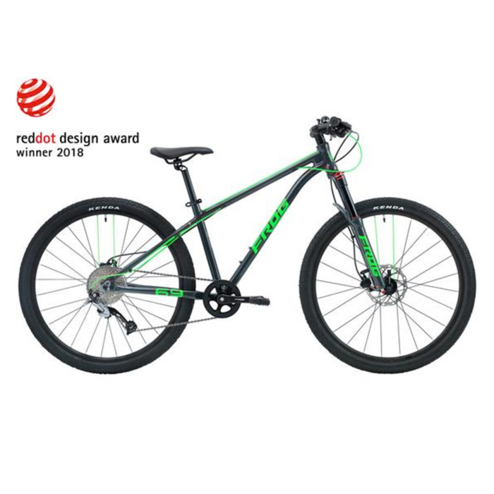 Frog MTB 69 Kids Bike - Metallic Grey/Neon Green