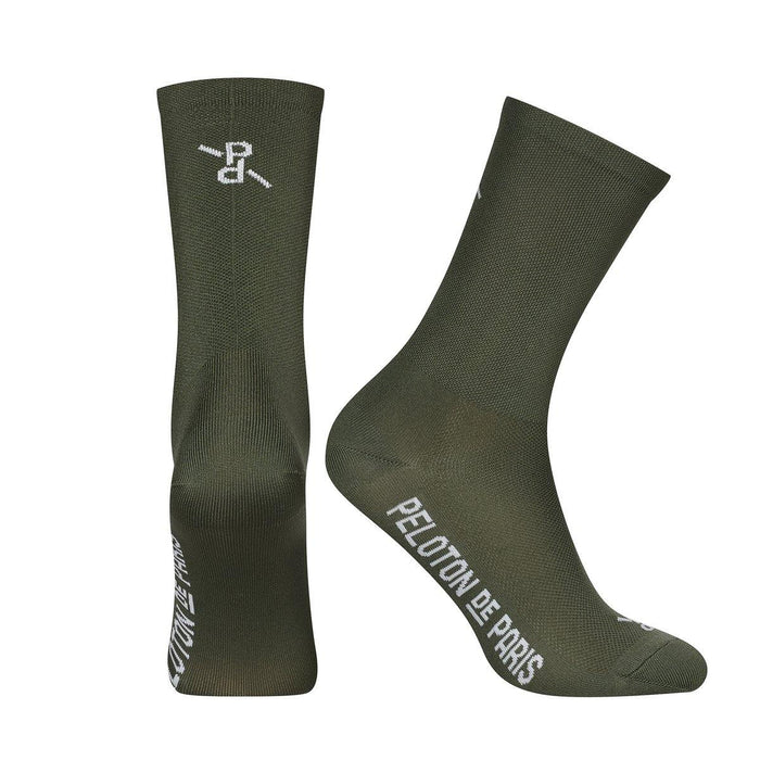 Peloton de Paris Signature PLTN Socks - Khaki