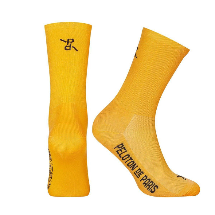 Peloton de Paris Signature PLTN Socks - Yellow