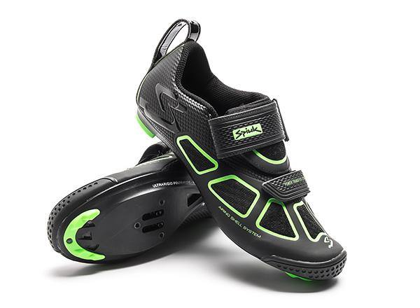 Spiuk Trivium Triathlon Shoe - Black/Green/Black