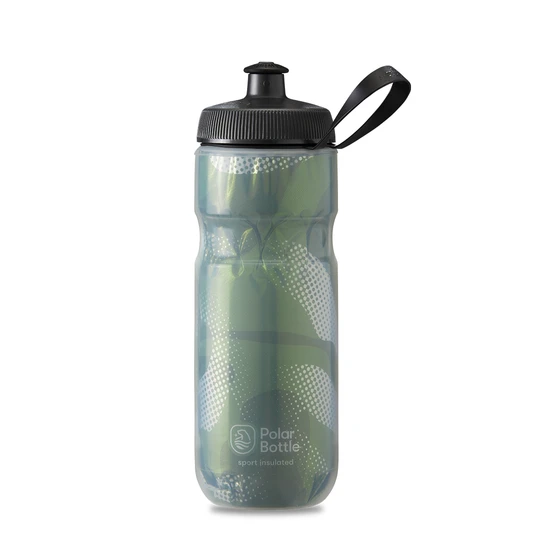 Polar Bottle Sport Insulated 20 oz - Contender Olive Green/Silver