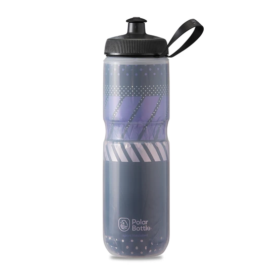 Polar Bottle Sport Insulated 24 oz - Tempo Charcoal/Pink