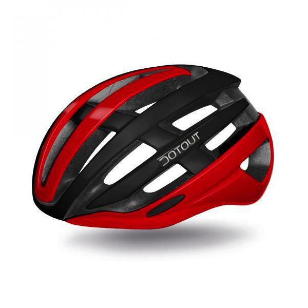 Dotout Targa Helmet - Matt Black/Shiny Red