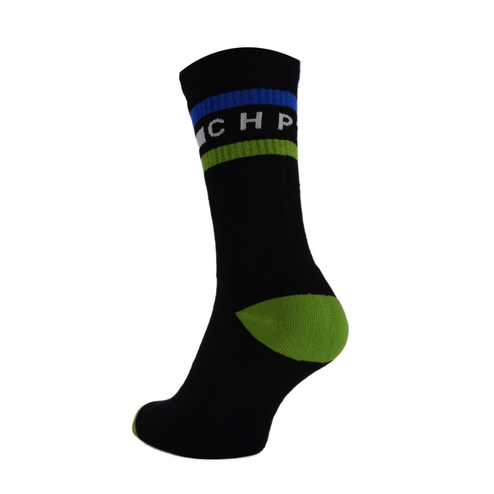 CHPT3 Tube Socks - Black/MSR Blue