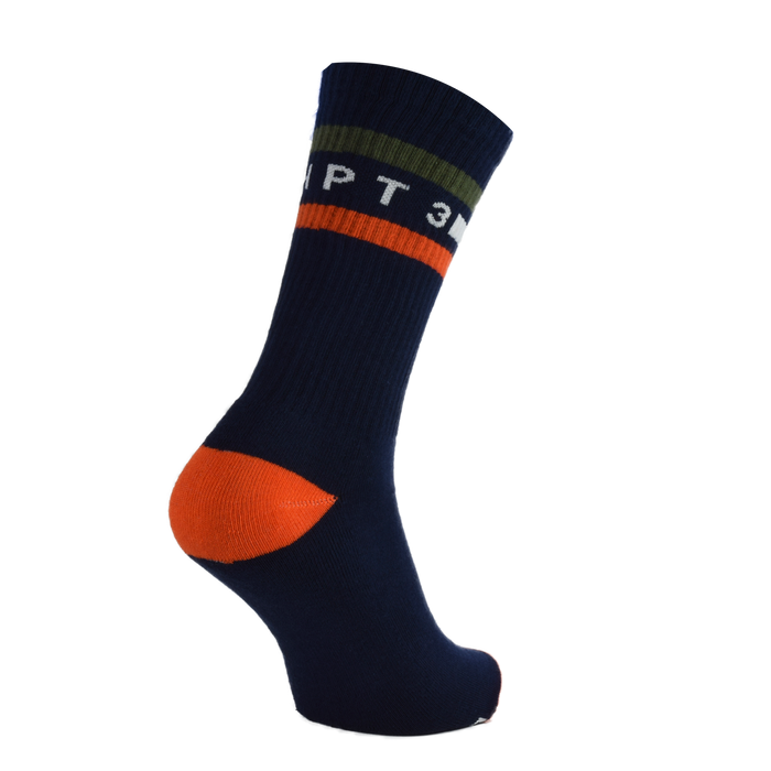 CHPT3 Tube Socks - Navy/Climbing Ivy