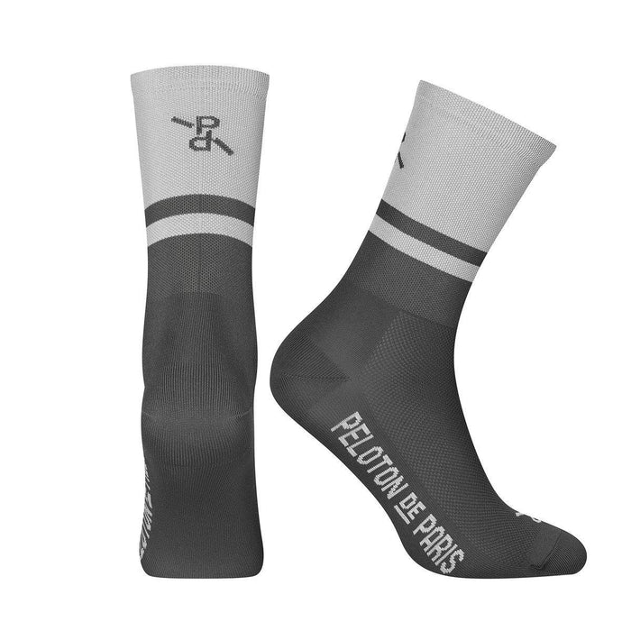 Peloton de Paris Two-Tone PLTN Socks - Light Grey/Grey