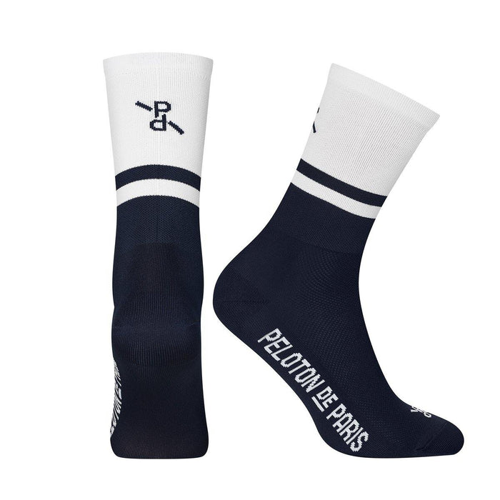 Peloton de Paris Two-Tone PLTN Socks - White/Navy