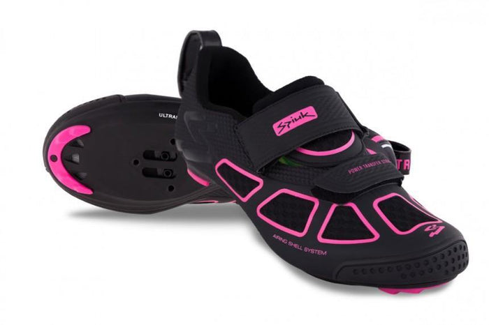 Spiuk Trivium Triathlon Shoe - Black/Fuchsia/Black