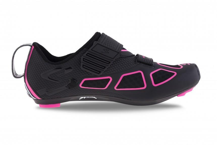 Spiuk Trivium Triathlon Shoe - Black/Fuchsia/Black - SpinWarriors