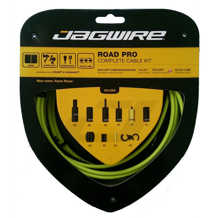 Jagwire Road Pro Complete Cable Kit - Organic Green