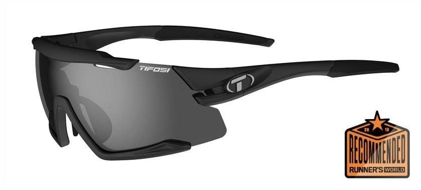 Tifosi Aethon Matte Black Sunglasses - 3 Lenses: Smoke / AC Red / Clear