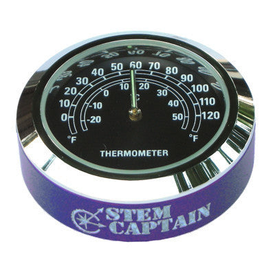StemCAPtain - Stem Cap Thermometer - Blue/Black