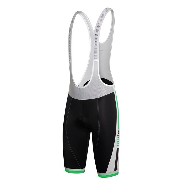 Zero rh+ Agility Bib Short - Black/ White/ Bright Green