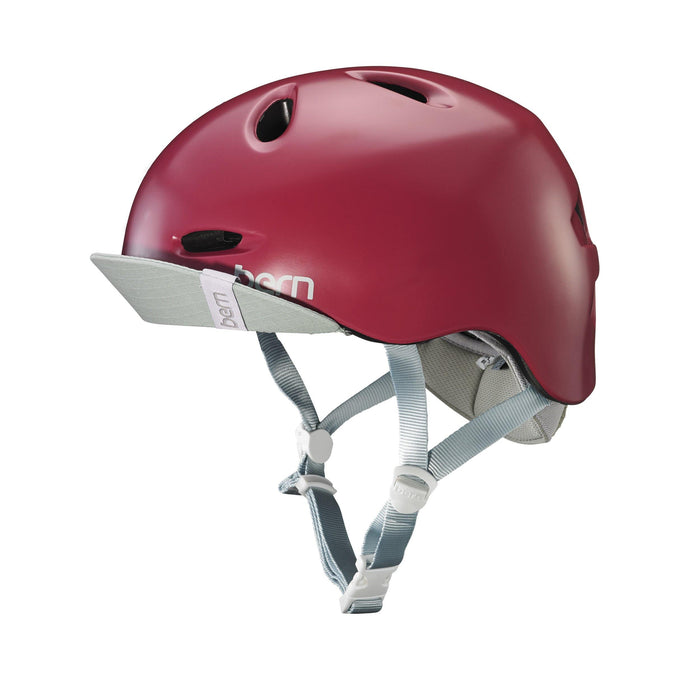Bern Berkeley Helmet - Satin Cranberry