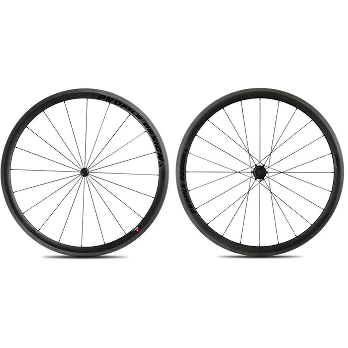 Profile Design 38/TwentyFour Carbon Clincher Wheelset - Black Decal