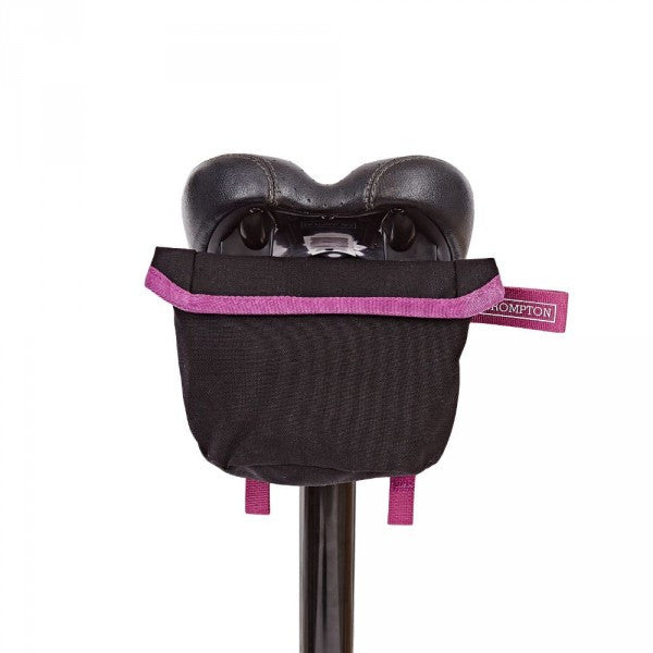 Brompton Saddle Pouch - Black/Berry Crush