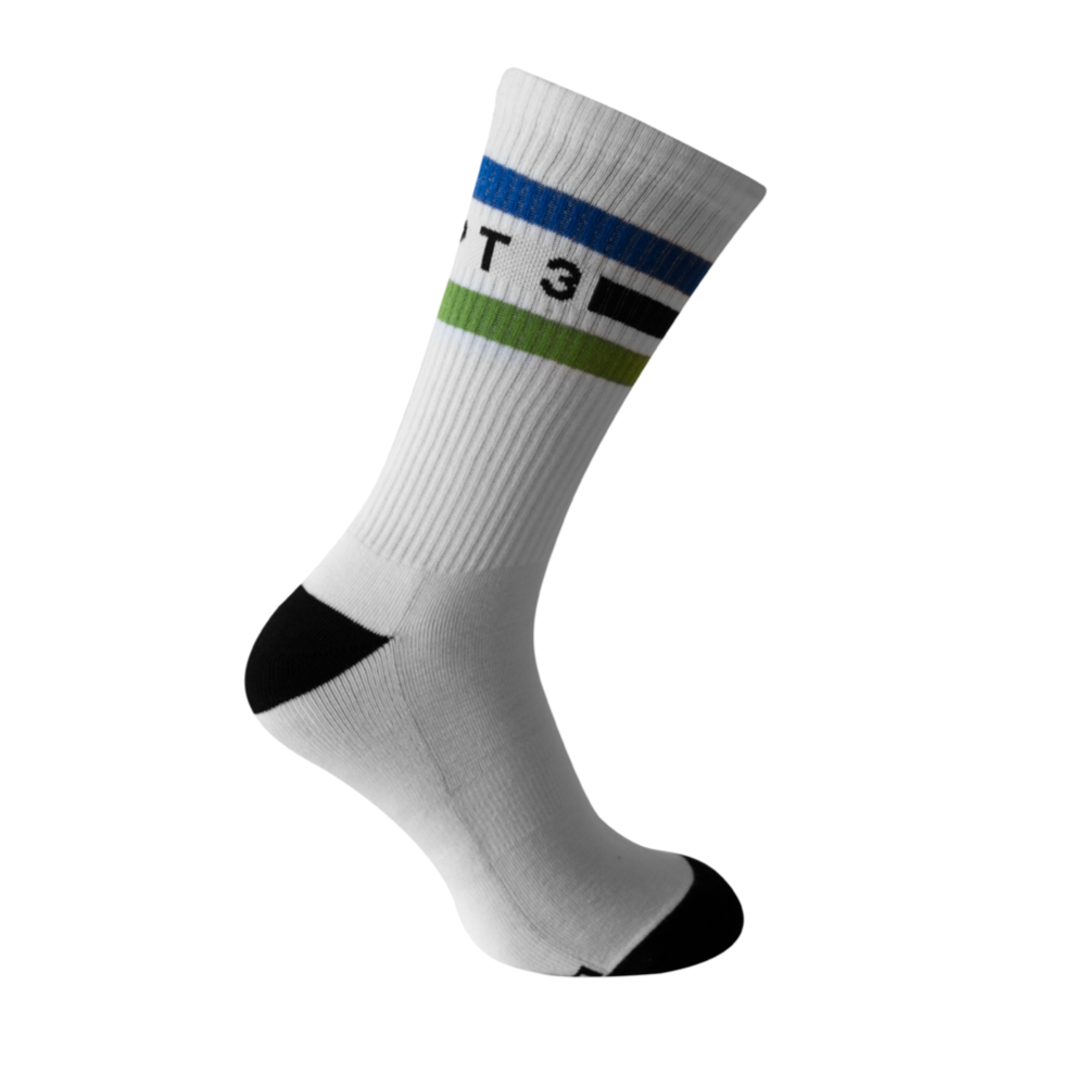 CHPT3 Tube Socks - White/MSR Blue