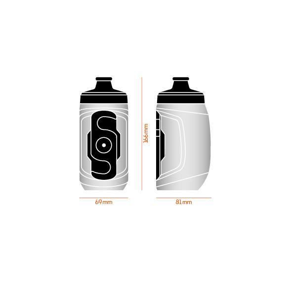 Fidlock Twist Single Bottle 450 - Transparent Black