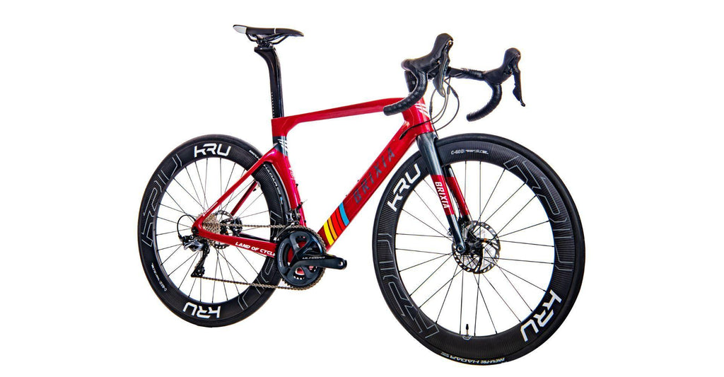 Brixia Alata Carbon Road Disc Frameset - Metallic Red
