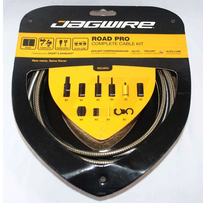Jagwire Road Pro Complete Cable Kit - Carbon Silver