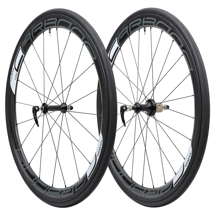 Tufo Carbona 45 Tubular Wheelset (Free Tufo Tubular Tires) - Black/White