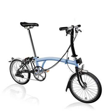 Brompton S6L - Cloud Blue/Black - SpinWarriors
