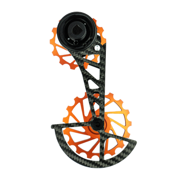 NOVA RIDE Carbon Ceramic Rear Derailleur SRAM AXS - Orange - SpinWarriors