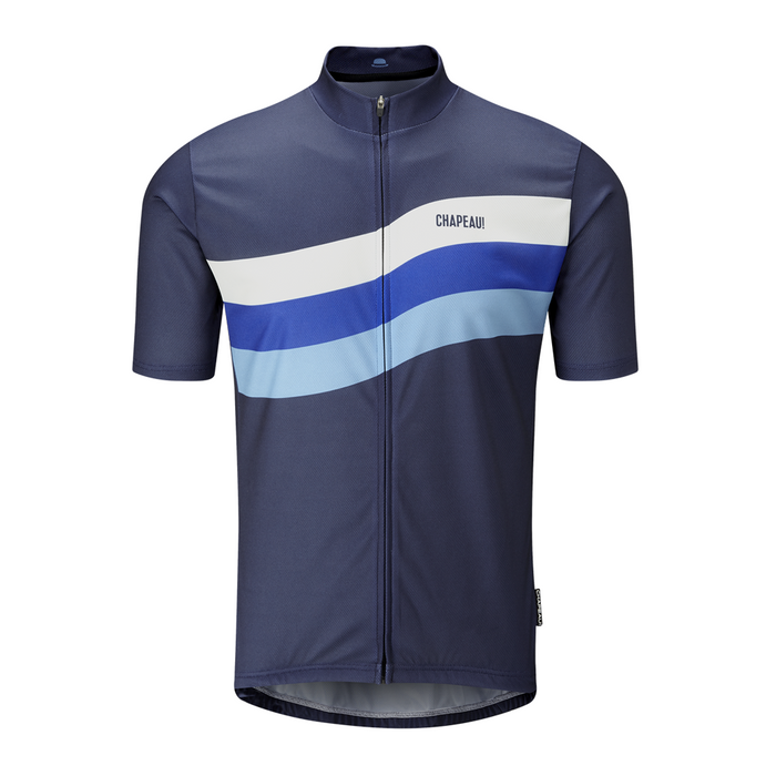 Chapeau! Tempo Wave Chest Stripe Jersey - Deep Ocean