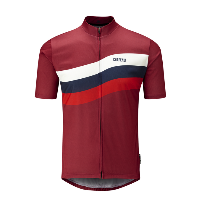 Chapeau! Tempo Jersey - Wave Chest Stripe, Devon Red