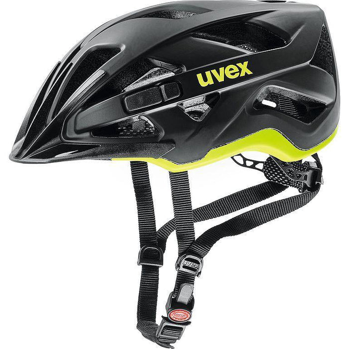 uvex active cc Helmet - Black Yellow Mat