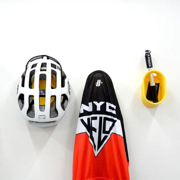 Cycloc Loop Helmet & Accessory Wall Storage - Yellow - SpinWarriors