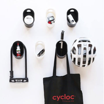 Cycloc Loop Helmet & Accessory Wall Storage - Black - SpinWarriors