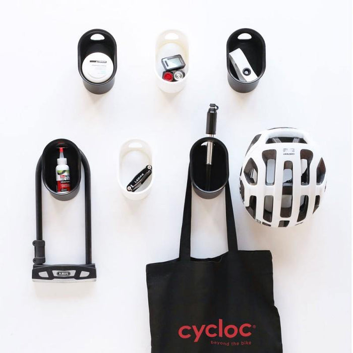 Cycloc Loop Helmet & Accessory Wall Storage - Black