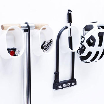 Cycloc Loop Helmet & Accessory Wall Storage - White - SpinWarriors