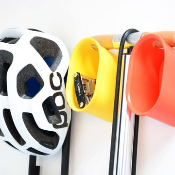 Cycloc Loop Helmet & Accessory Wall Storage - Orange - SpinWarriors