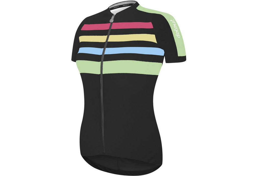 Dotout Stripe Woman Jersey - Black