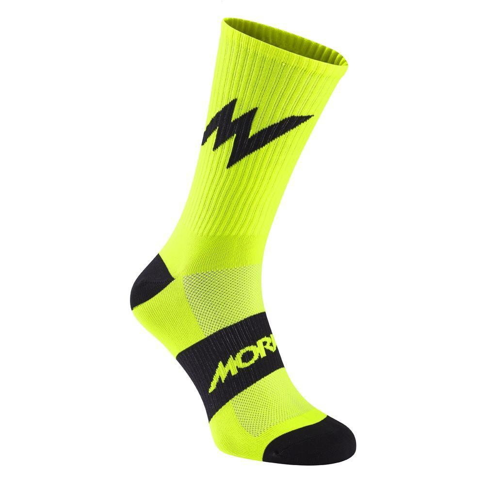 Morvelo Series Emblem Fluro Yellow Socks