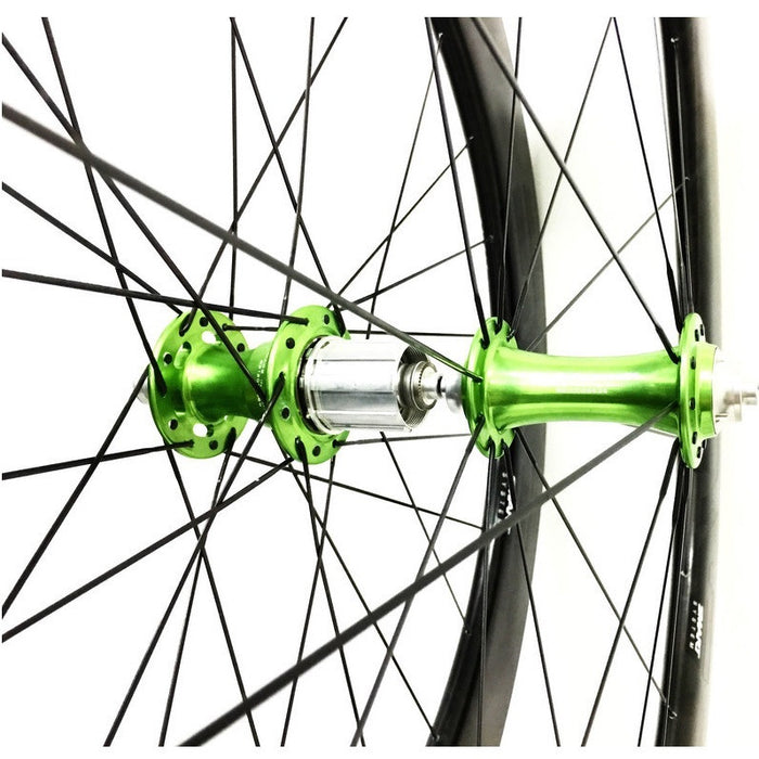 ENVE SES 3.4 Carbon Tubular Wheelset - Chris King R45 Sour Apple Ceramic Hubs