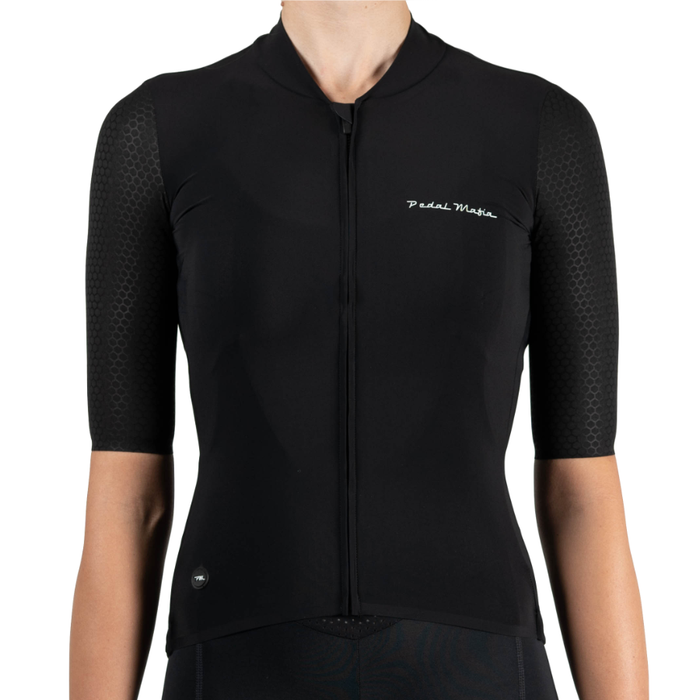 Pedal Mafia Woman Pro Jersey - Black/White