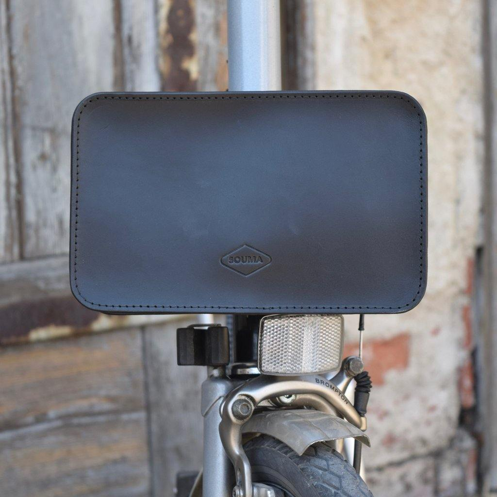 Souma Front Brompton Leather Carrier Pouch - Black