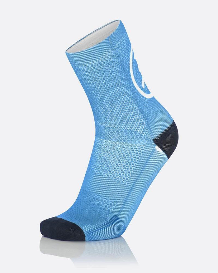 MB Wear Fun Smile Sock - Light Blue