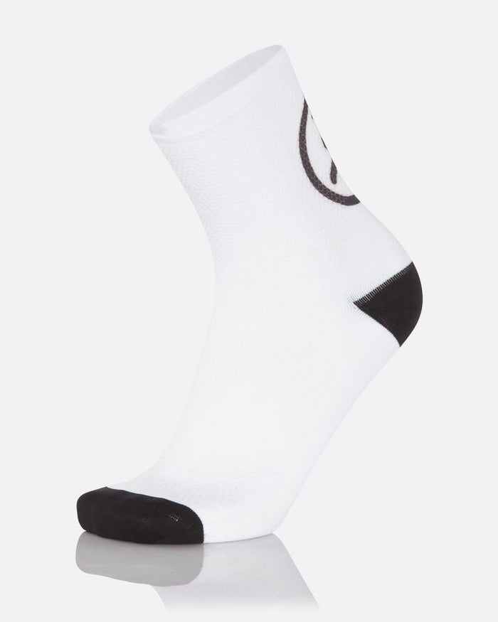 MB Wear Fun Smile Sock - White