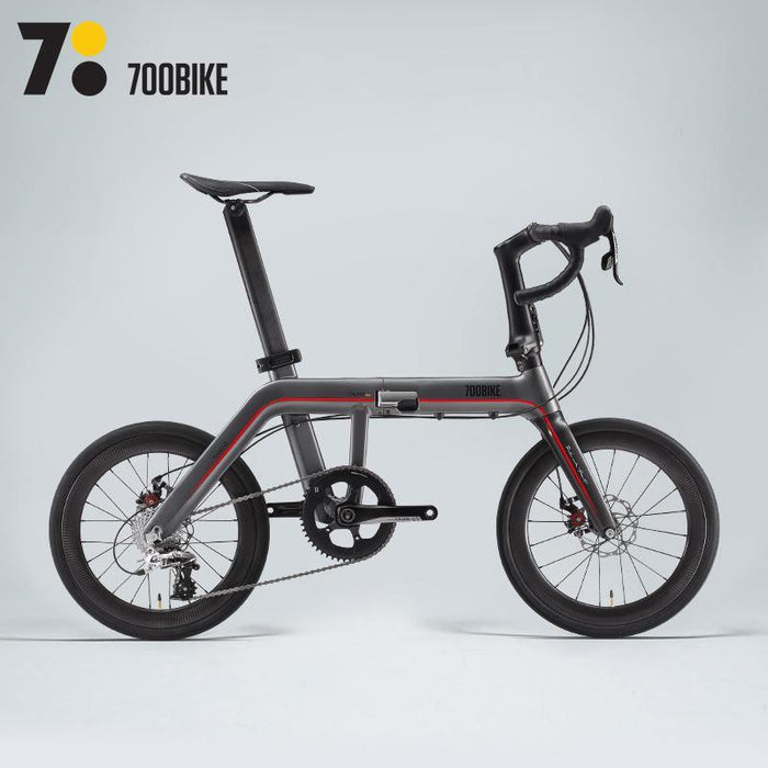 700Bike Galaxy Pro - Dark Silver/Red