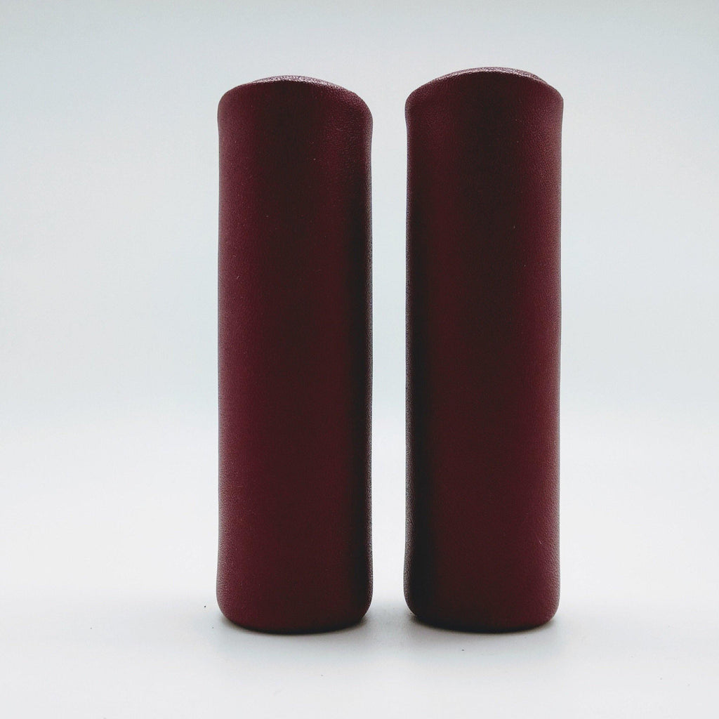 Benheil Brompton Leather Hand Grip - Wine Red