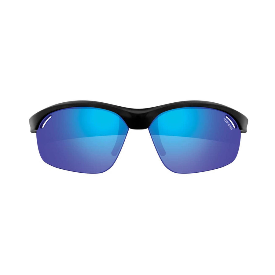 Tifosi Veloce Gloss Black Sunglasses - Clarion Blue, AC Red & Clear Lenses - SpinWarriors