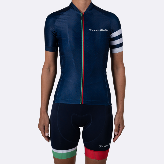 Pedal Mafia Woman Euro Navy Kit (Jersey + Bibshort)