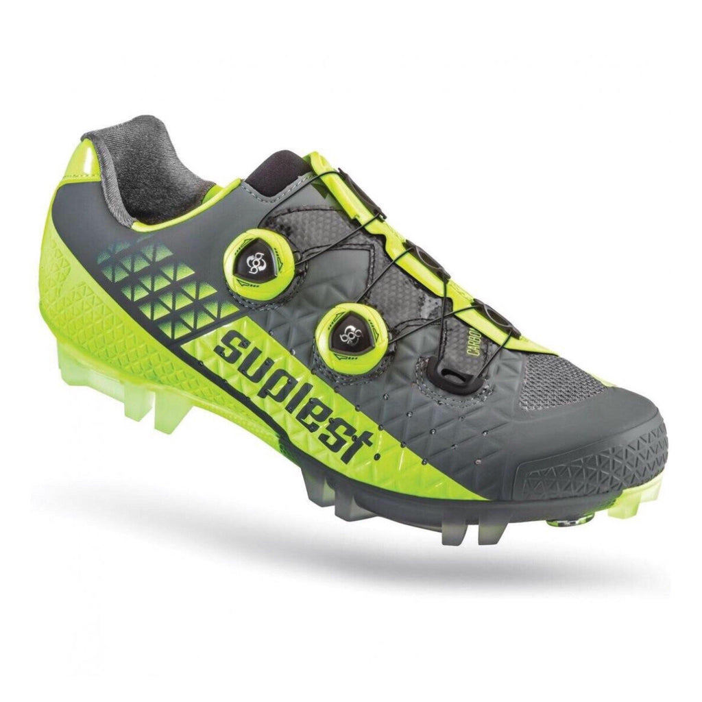 shop coupon code look for Suplest Edge/3 Pro MTB Shoes - Grey/Neon Yellow