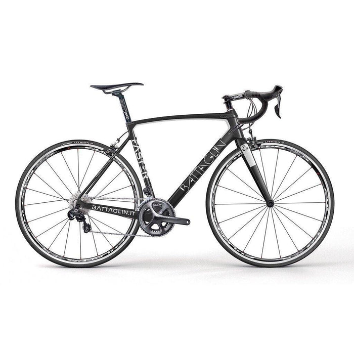 Battaglin Faster Carbon Road Frameset - Matte Black/White