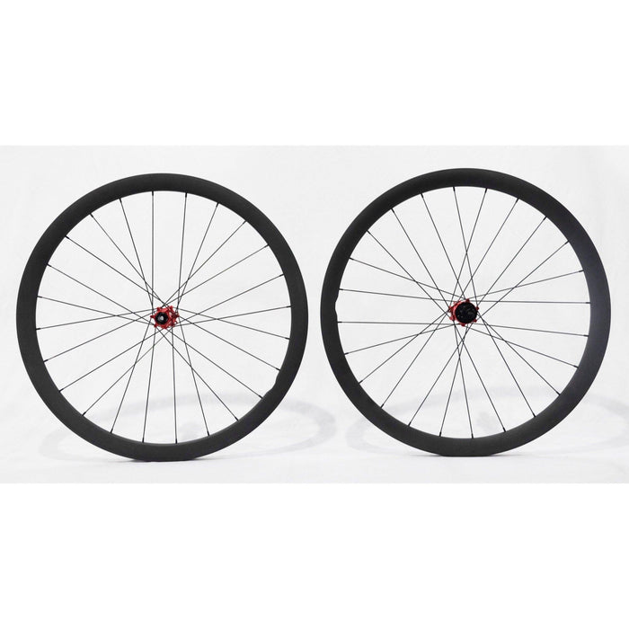 Carbon Ti X-Wheel SpeedCarbon SP 38 Disc Clincher Wheelset - Red Hub
