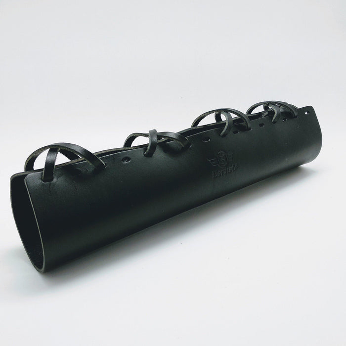 Benheil Brompton Long Top Tube Leather Cover - Black